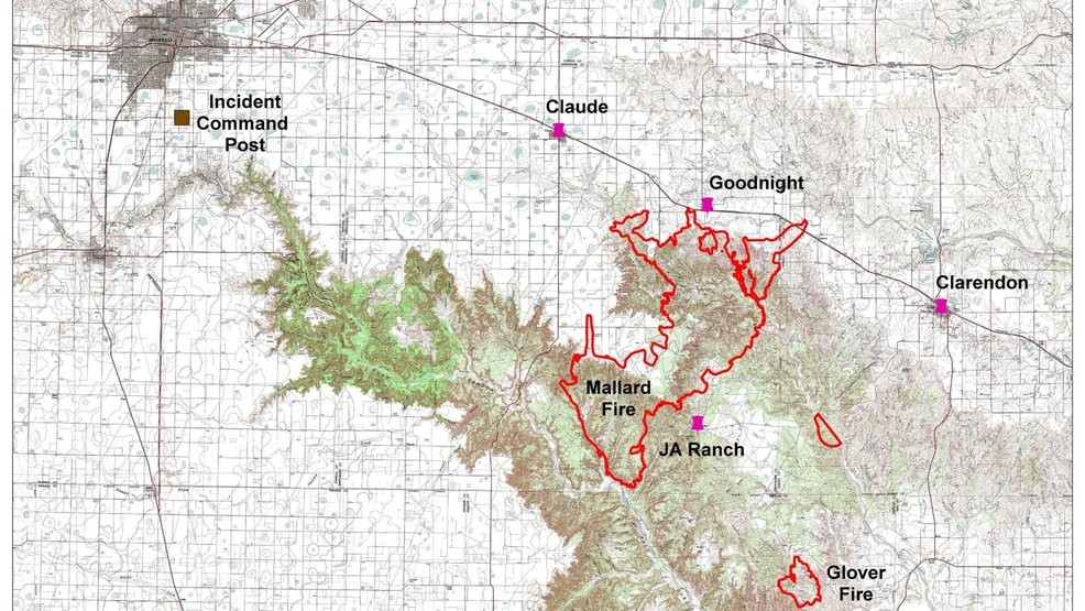 Large Incident Fire Map.Armstrong County Fire Now At 74 464 Acres 20 Percent Contained Kvii
