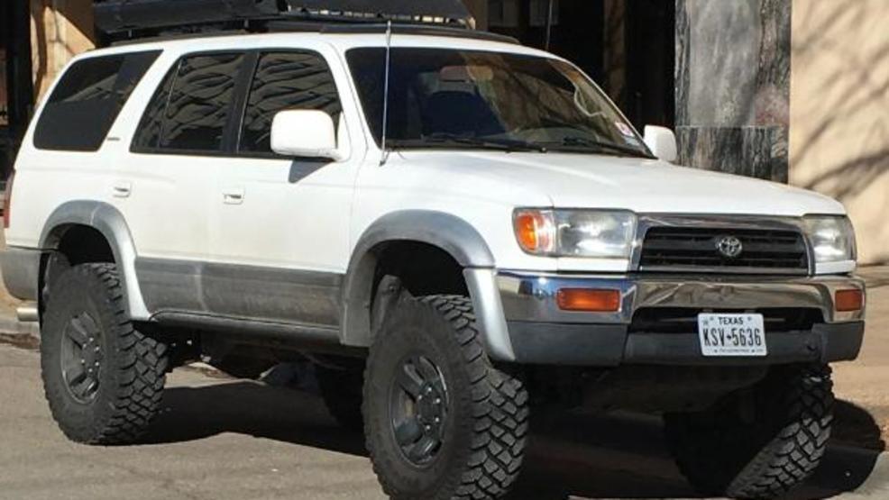 apd s stolen auto day features white 1997 toyota 4runner kvii apd s stolen auto day features white