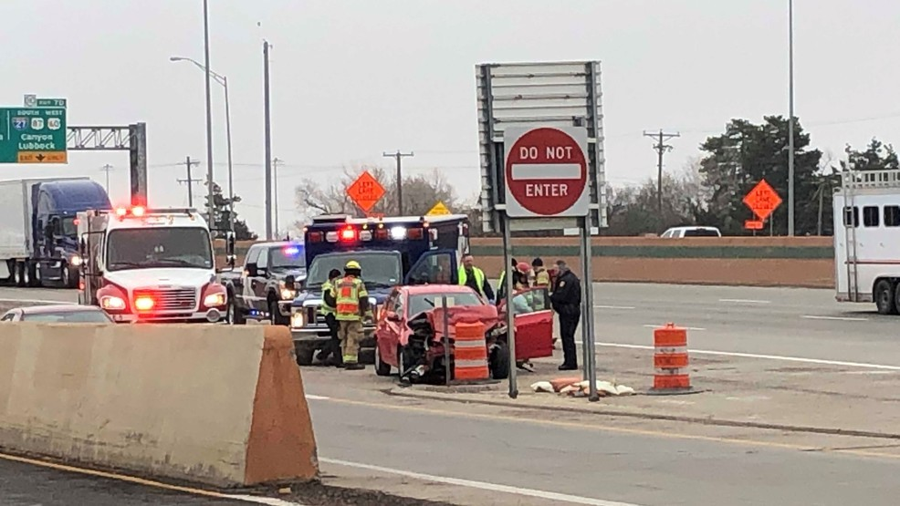 Traffic is blocked at I-40 and Washington as emergency crews work an